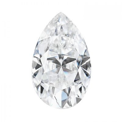 2.10CT Pear Cut Moissanite Loose Stone G-H-I Color Charles and Colvard 10x7MM