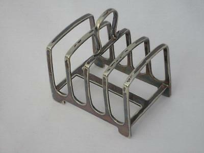 Vintage Silver Plated Toast Rack Hallmarked J D & S 7862 730146 Collectable F3