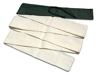 "92"" Cotton Longbow / Flatbow Bag  Cream+Green"