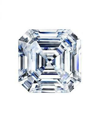 3.14CT Asscher Cut Charles and Colvard Moissanite G-H-I Color Loose Stone 9.00MM