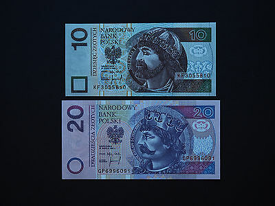 Poland Banknotes  -  Superb Set Of Two Classic Notes    Date  1994     Mint Unc