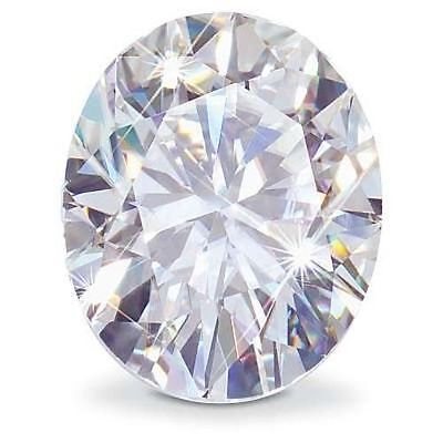 3CT Forever One Moissanite D-E-F Oval Cut Loose Stone Charles & Colvard 10x8mm