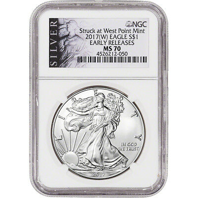 2017-(W) American Silver Eagle - NGC MS70 - Early Releases - ALS Label