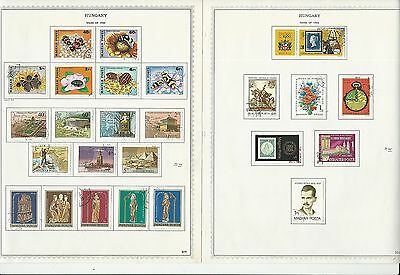 Hungary Collection 1980-1991 on Minkus Specialty Pages, Over 50 Pages