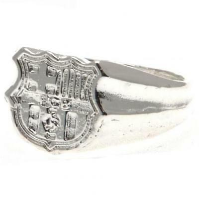 F.C. Barcelona Silver Plated Crest Ring Large