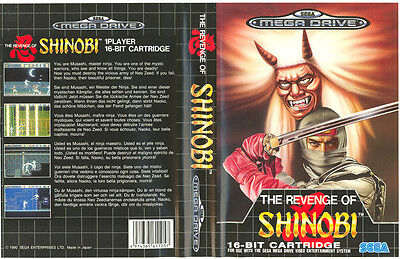 The Revenge Of Shinobi Sega Mega Drive PAL Replacement Box Art Case Insert Cover