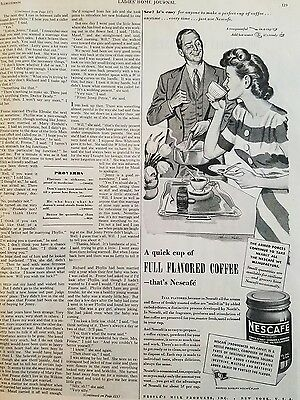 1944 Nescafe full flavored coffee it's easy to make perfect coffee ad