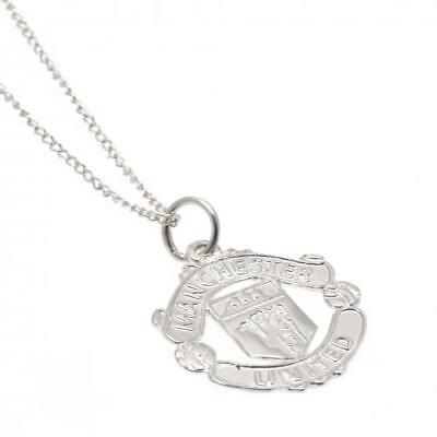 Manchester United F.C. Sterling Silver Pendant & Chain CR