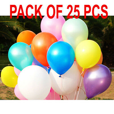 """25 BALLOONS - 30 METER Birthday Wedding Baby Shower Party Latex ALL Balloons 10"""""""