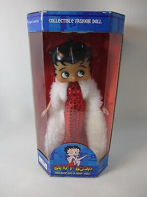 1999 Precious Kids Collectible Betty Boop Glamour Fashion Doll wStand NEW IN BOX