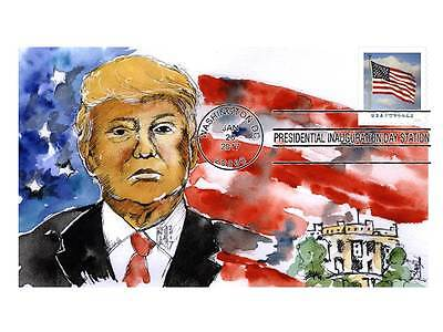 DONALD TRUMP 2017  INAUGURATION COVER , 50 made, official postmark