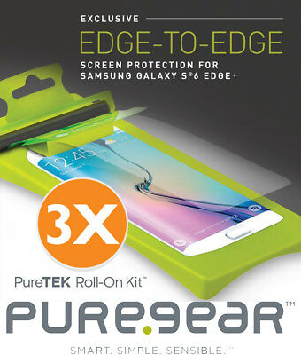 3x PUREGEAR PURETEK SCREEN PROTECTOR ROLL KIT FOR SAMSUNG GALAXY S6 EDGE PLUS +