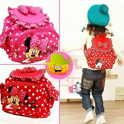 Hot Kids Children Girls Fashion Leisure Minnie Backpacks Cute Cartoon School Bag