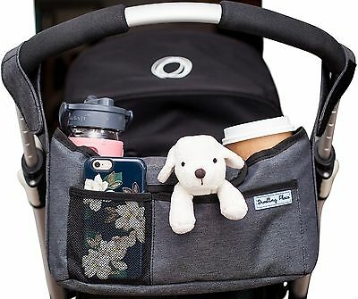Deluxe Stroller Organizer | Universal Fit Two Insulated Cup Holders Lightweig...
