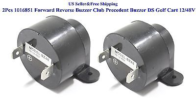 2Pcs 1016851 Forward Reverse Buzzer Club Precedent Buzzer DS Golf Cart 12/48V US