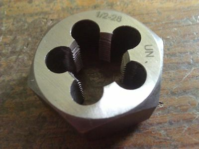 "1/2""-28 Carbon Steel Hexagonal Re-Threading Die"