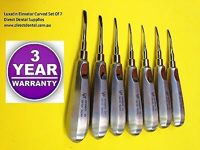 Dental Instruments,Elevator , Luxating Set Of 7 Picks Curved From 2.0mm-5 .0mm
