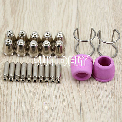 24PCS Plasma Cutter Consumables Kit SG-55 AG-60 WSD-60P Cutting Torch Tip Nozzle
