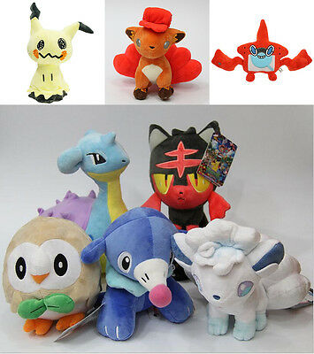 Pokémon Sun.Moon Mimikyu Rotom Plush Toy Vulpix Litten Doll Kids Boy Girl Gift