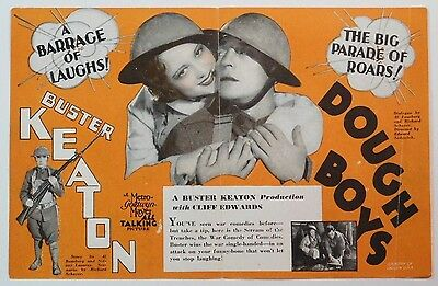 BUSTER KEATON Vintage 1930 DOUGHBOYS Pre-Code Talking WWI Film MGM MOVIE HERALD