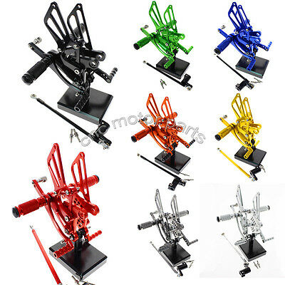 CNC Rearsets Rear Sets Footpeg Pegs For Honda CBR125R 2011-2015 Colors