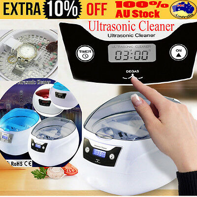 Multi Purpose Ultrasonic Sonic Wave Cleaner Jewellery Glasses Watch Cleaning DH