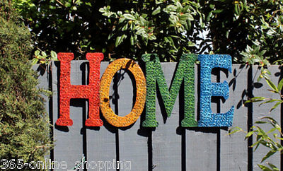 """Novelty Modern Retro Wall Art """"home Sign"""" Home Or Garden Ornament Wecome Sign"""