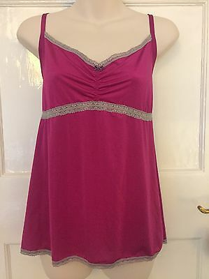 MARKS AND SPENCER Lace Camisole Vest 22 Pink VERY PRETTY