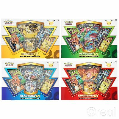 New Pokemon EX Red And Blue Collection Box Sets Charizard Or Pikachu Official