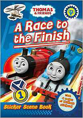 Thomas & Friends: A Race to the Finish (Sticker Scene Book), New,  Book
