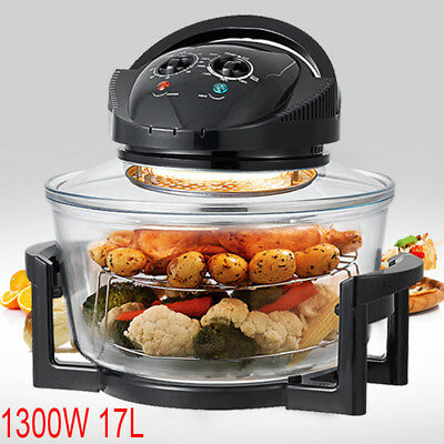 1300W 17L Airwave Low Fat Air Fryer Oil Free Healthy Halogen Cooker Kitchen Tool