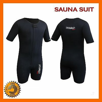 Neoprene Sweat Suit Sauna Exercise Gym Suit Fitness Weight Loss Compression Sz L