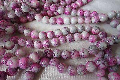 30 Round 8mm Multi-Colour Glass Beads #g3663