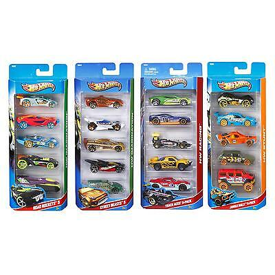 Hot Wheels 5 Pack Die-Cast Vehicle/Cars Set Childrens/Kids/Boys Push-along