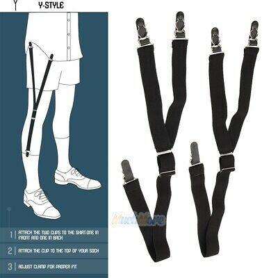 2 Stirrup Style Shirt Holder Military Uniform Shirt Stay Keeper Garter Suspender