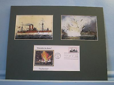 The USS Maine Blows Up starting the Spanish-American War & First Day Cover