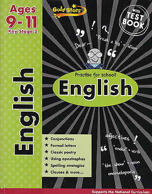 KS2 English Workbook Age 9-11, Gold Stars, New Book