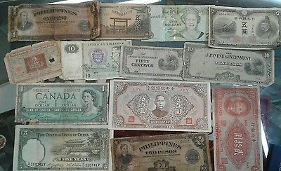 Lot of 13 Foreign Currency Notes