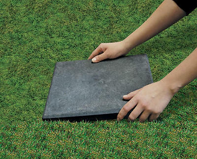 "12"" x 12"" Stomp Stone Landscaping Patio Paver Recycled Rubber Faux Natural Slate"