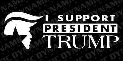 Large I Support President Donald Trump sticker USA election vinyl window decal