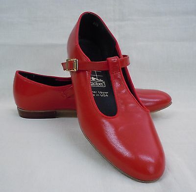NIB!! Tic Tac Toes Heather Square Dance Shoe, Red