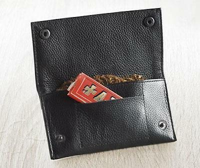 Soft Leather Tobacco Pouch lined paper slot rolling pocket rizla smooking