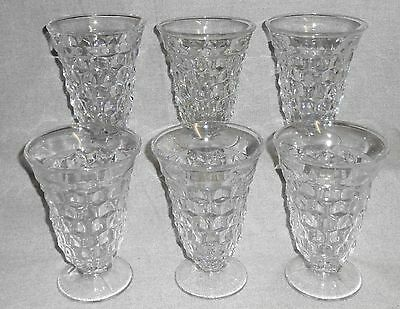 Set (6) Fostoria AMERICAN PATTERN 12 oz Footed ICED TEA Goblets