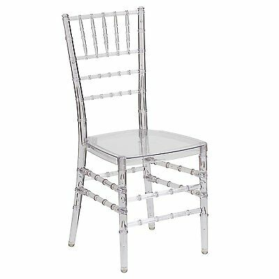 Flash Furniture Flash Elegance Crystal Ice Stacking Chiavari Chair, Clear