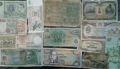 Lot of 14 Foreign Currency Paper Notes
