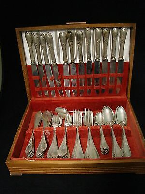 Genuine Antique Russian 84 Sterling Silver Flatware Set 72 Pieces Weight 3785 G