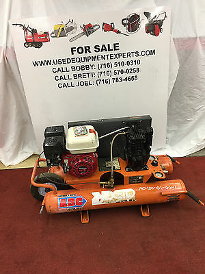 Used RIDGID 9 Gallon Portable Gas Powered Air Compressor Wheelbarrow Commercial!