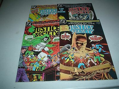 AMERICA VS THE JUSTICE SOCIETY 1-4 1985 Complete Set High Grade