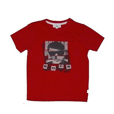 "Hugo Boss ""Rock & Boss"" Red T-Shirt Age 18 months 18M"