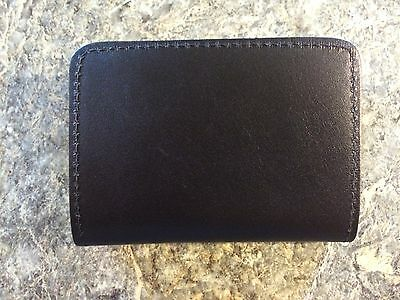 Genuine Black Leather Bifold Id & Police Badge Case  Wallet Law Enforcement